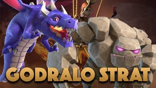 Godraloon Strategy For Town Hall 9 | TH9 Golem Dragon Attack 3 Star In War | Clash Of Clans