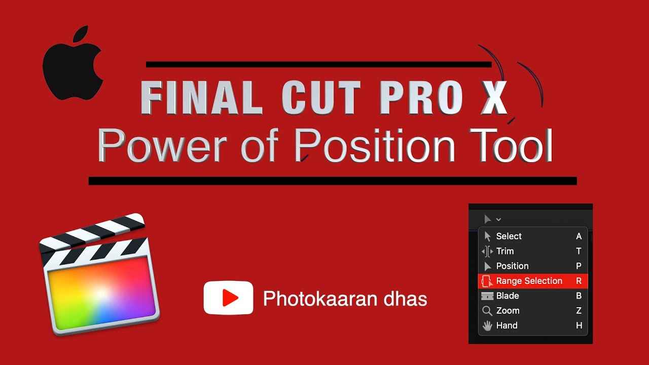 Download Tamil Tutorial || Position Tool in Final Cut Pro X ( Power Tool )
