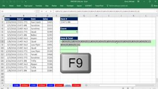 Excel Magic Trick 1311: Return Multiple Items from One Lookup Value & Show Total for Invoice Items