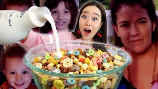 Mixing EVERY Cereal TOGETHER MUKBANG! (Case: The Hoggle Children Vanished and Only She Knows Where)