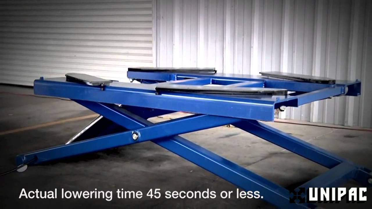 Bendpak Portable Scissor Car Lift Youtube