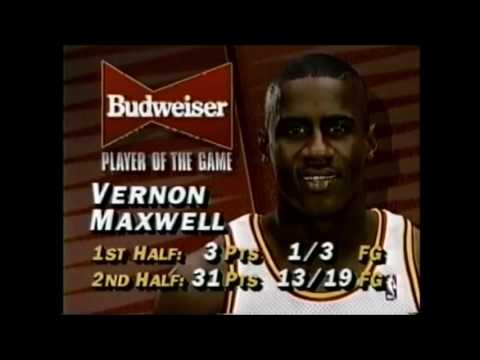 Vernon Maxwell - 34 points vs PHOENIX + post game interview (1994 NBA Playoffs)