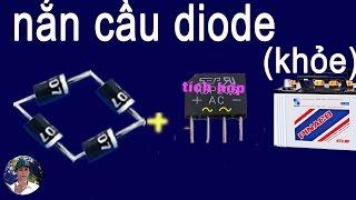 bộ nắn cầu diode, cách đấu song song bộ nắn cầu đi ốt