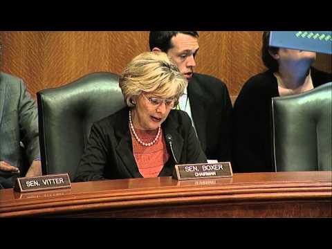 Senator Boxer Praises Credentials of EPA Nominee Gina McCarthy (April 11, 2013)