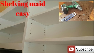 How to install cabinet shelves