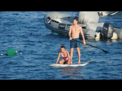 Miguel Bernardeau y Aitana Ocaña, amor en la tabla de paddle-surf