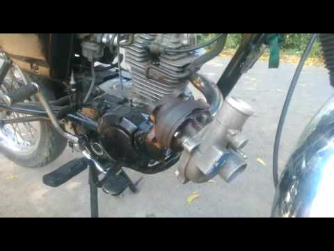Turbocharger in two wheeler