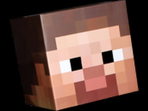 How to Make a Minecraft Costume Steve\u0027s Head EASY!! - YouTube