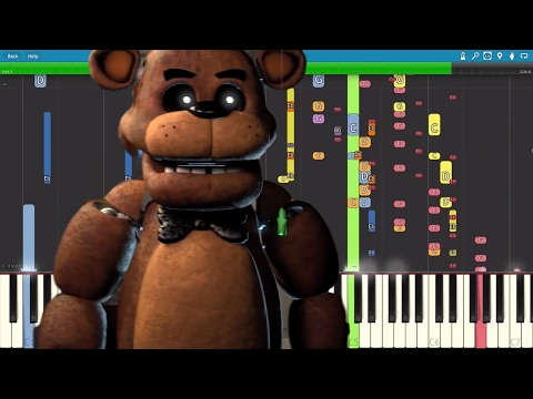 IMPOSSIBLE REMIX - FNAF Song - He's A Scary Bear - Piano Cover - Fandroid - Caleb Hyles