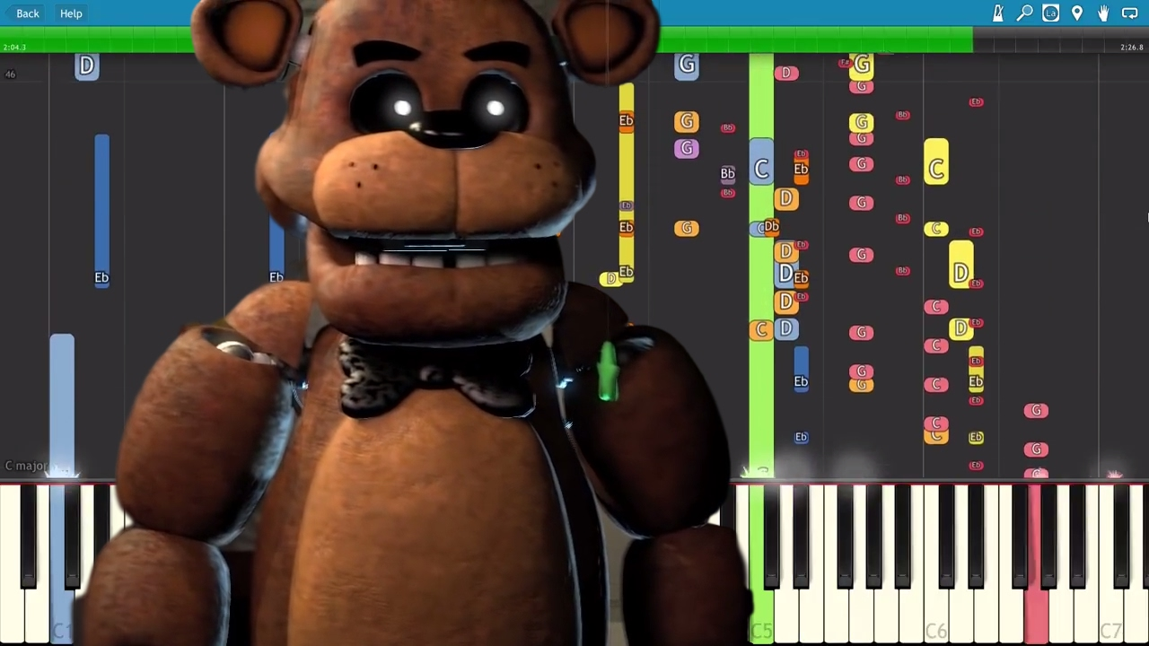 IMPOSSIBLE REMIX - FNAF Song - He\'s A Scary Bear - Piano Cover ...