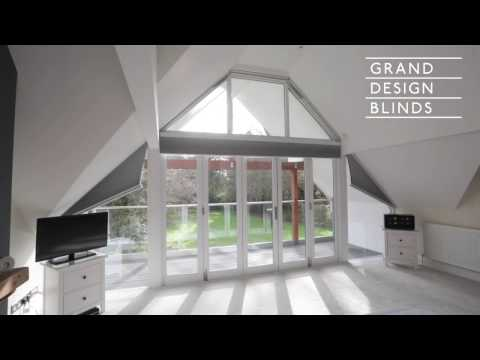 Electric Blackout Duette® Gable Window Blinds - Waltham St. Lawrence