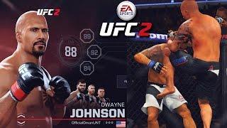 دوين ''الصخرة'' جونسون! 100 العامة إنشاء مقاتلة?!? EA Sports UFC 2 على الانترنت اللعب