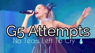 ariana grande live g5 attempts in no tears left to cry