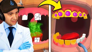 Fixing $1,000,000 TEETH As A DENTIST! | Dentist Bling