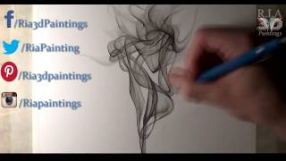 How to Draw a Smoke Pencil Drawing - Easy Things to Draw -8 by R.i.a 3d Paintings