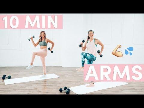 10 Minute Tank Top Arms Workout w/ POPSUGAR