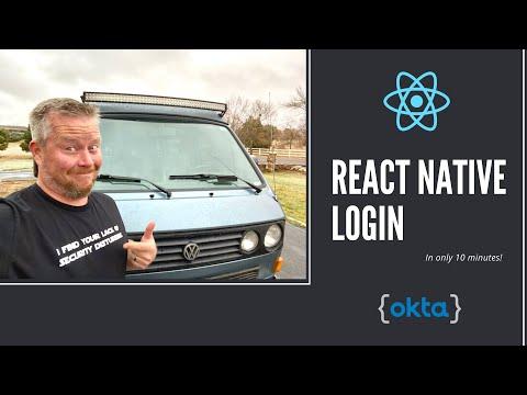 React Native Login in 10 Minutes thumbnail