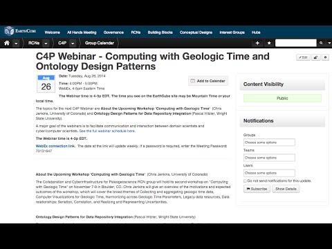 Cyber4Paleo Webinar 10: Computing with Geologic Time and Ontology Design Patterns (v2)