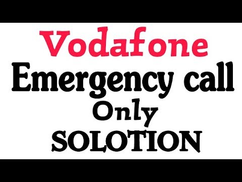 How To Fix Vodafone Sim Emergency Call Only Problem Solotion