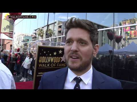 MICHAEL BUBLÉ HONORED WITH HOLLYWOOD WALK OF FAME STAR Mp3