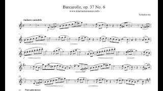 Barcarolle   op37 No.6  Tschaikovsky - play Clarinet
