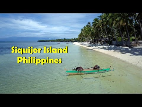 Solangon White Sand Beach, Siquijor Island, Philippines (4K Drone)
