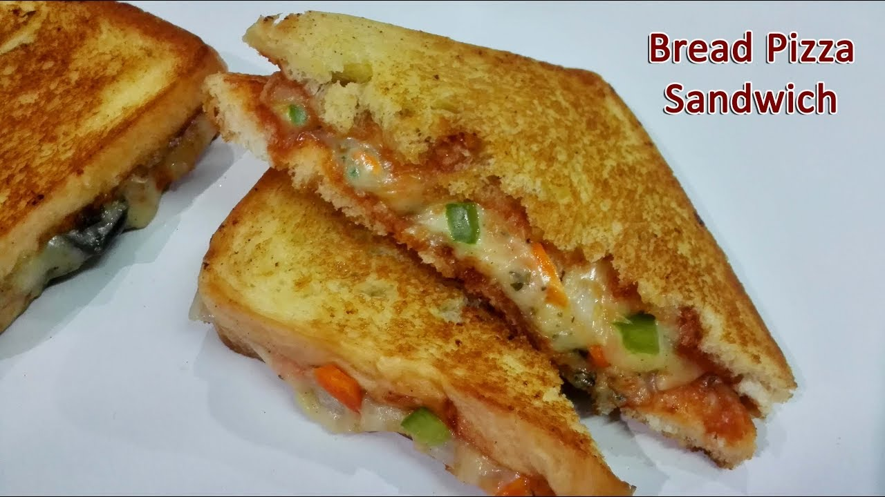 Pizza Sandwiches Recipe Bread Pizza Sandwich Breakfast Snack Recipe Youtube