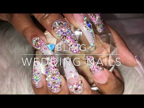 Bling Wedding Nails 👰🏽💍💎