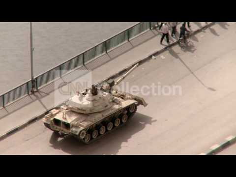 EGYPT TANK PUSHING BACK