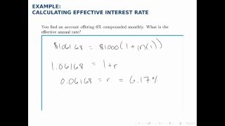 Finance Example: Effective Interest Rate (APY)