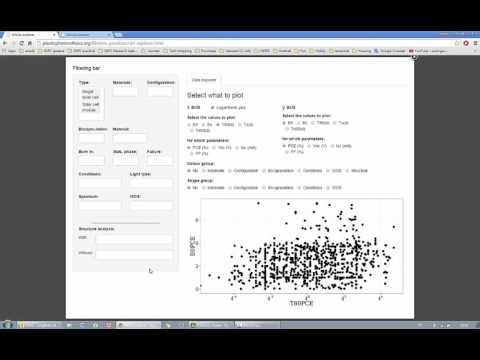 Organic Solar Cell - Lifetime Database -  Tutorial