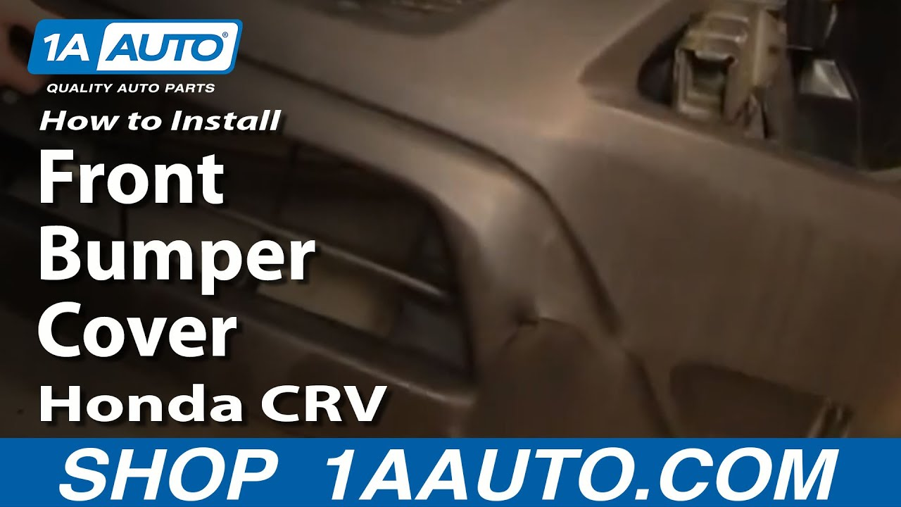 How To Install Replace Front Bumper Cover Honda Cr V 02 06 1aauto Rh  Youtube Com 1997 Honda CR V Front Bumper Diagram 2009 Honda CR V Front  Bumper Diagram