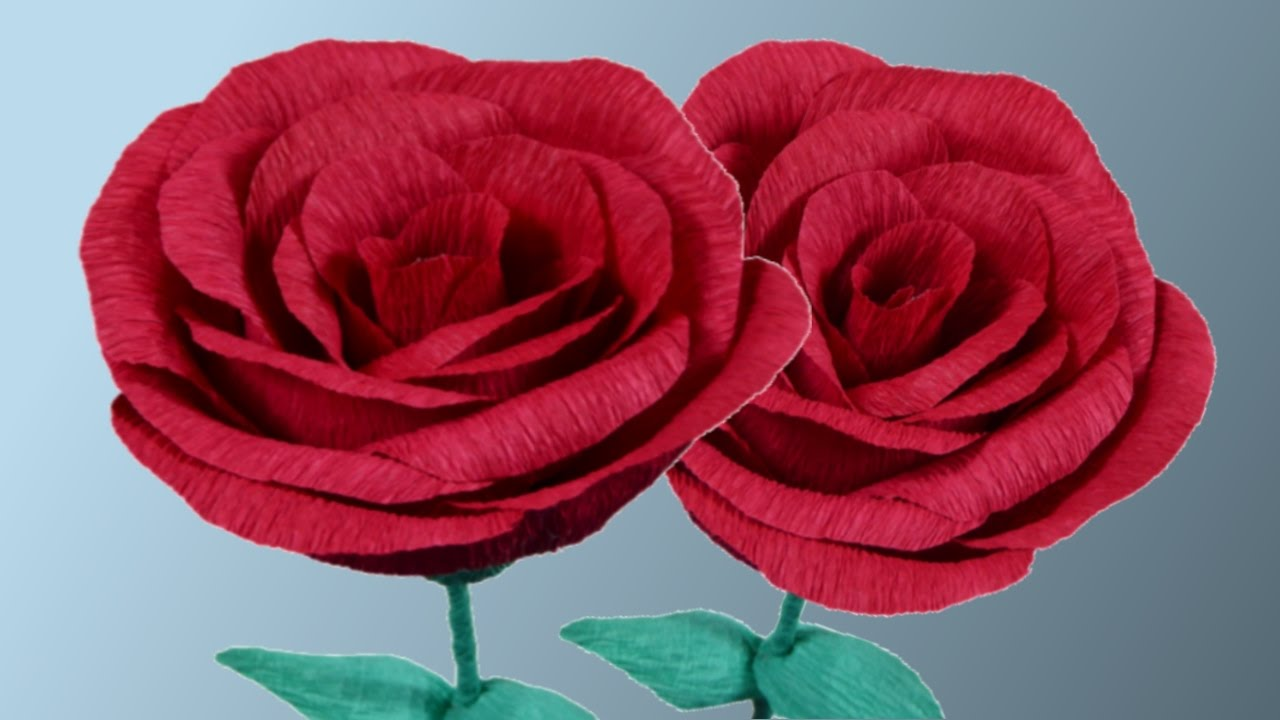 Rosas de papel crepe manualidades youtube for Rosas de papel