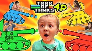 TANK OF TANKS!  FGTEEV FAMILY 4 PLAYER CHAOTIC ONE MINUTE DEATHMATCH BATTLE!