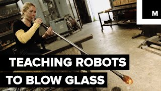 Robots blowing glass