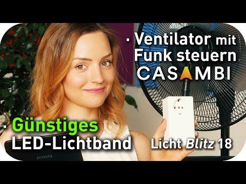günstiges LED Lichtband | Ventilator mit Funk steuern Casambi | Norka Bremerhaven | Lichtblitz 18