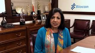 Kiran Shaw Mazumdar, Founder, Biocon, giving message for
