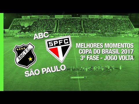 Melhores Momentos - ABC 1 x 1 São Paulo - Copa do Brasil - 15/03/2017