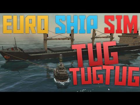 Euro Ship Simulator - Tuggin' a big ship!