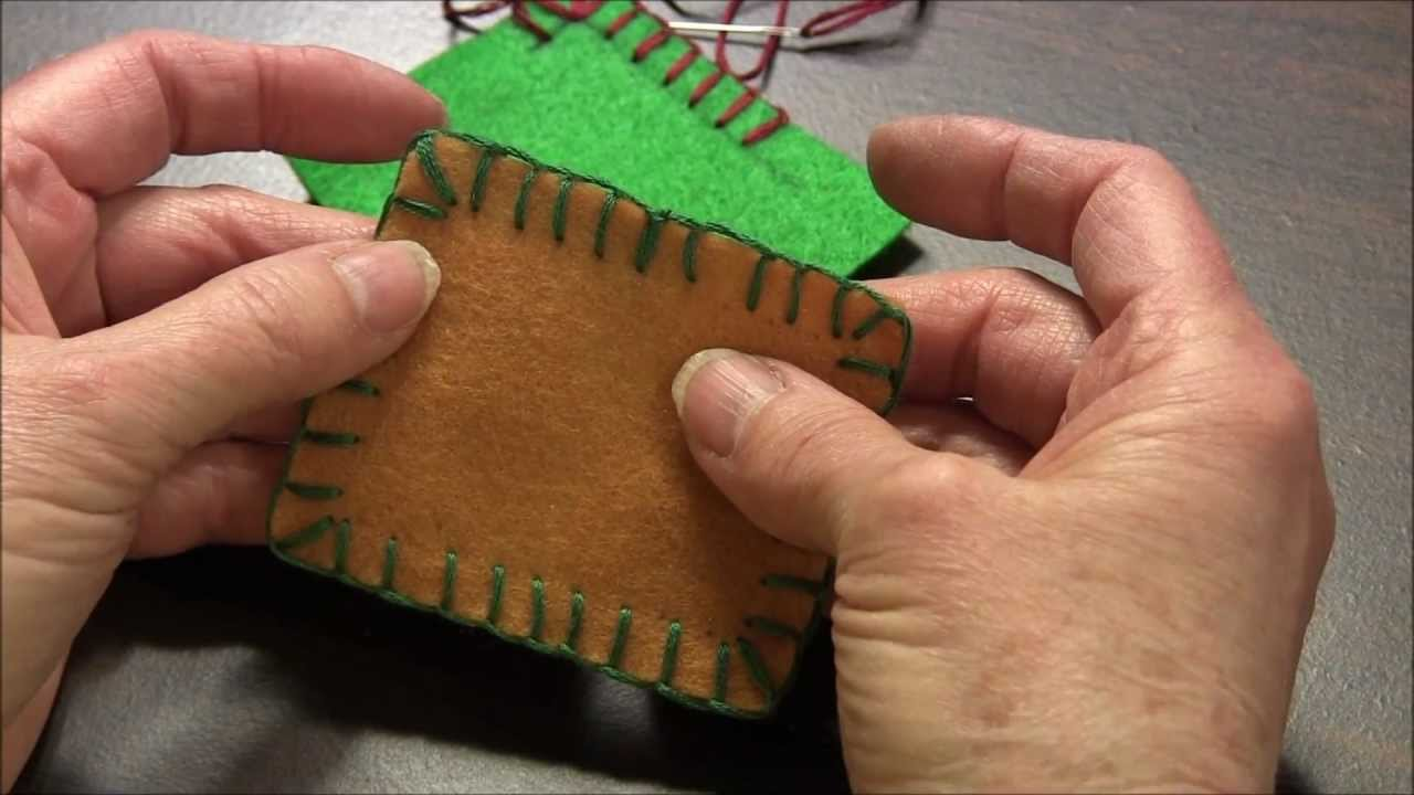 Blanket Stitch How To Do The Blanket Stitch Around Corners Youtube