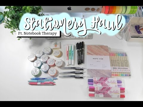 HUGE STATIONERY HAUL!! FT. NOTEBOOK THERAPY | studycollab