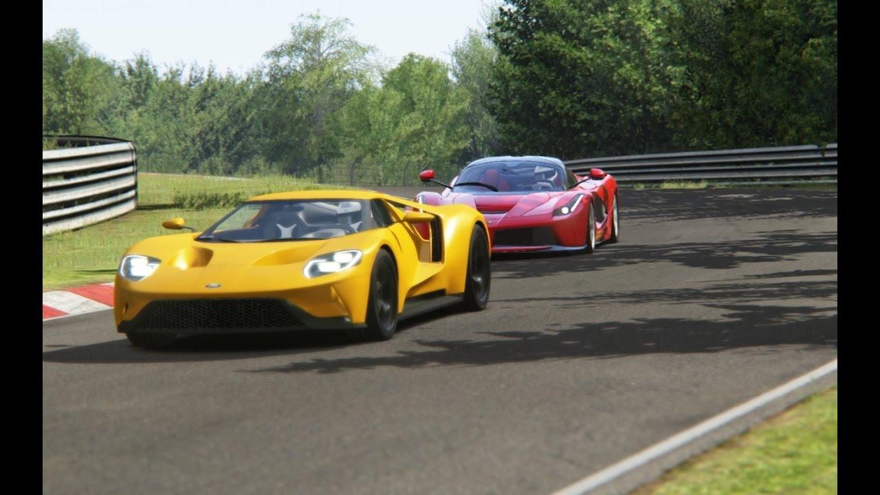 Battle Ford GT x Ferrari LaFerrari Racing at Nurburgring ...