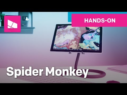 Spider Monkey Tablet Stand With Surface Pro