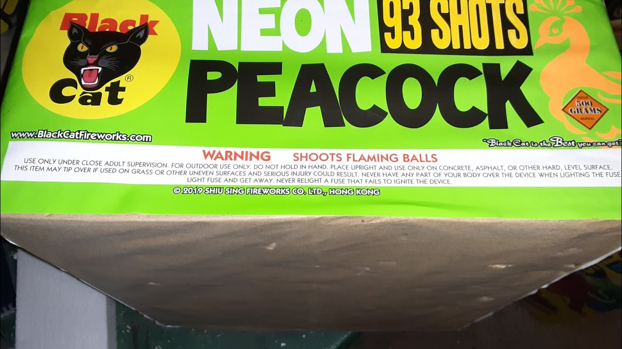 NEON PEACOCK by Blackcat Fireworks!