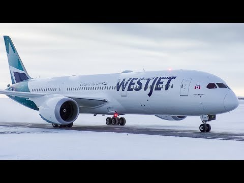 WestJet Boeing 787-9 Dreamliner First Departure from Calgary