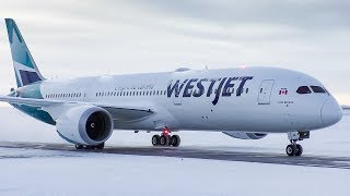 WestJet Boeing 787-9 Dreamliner First Departure from Calgary Airport thumbnail