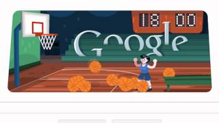 Google Doodle About London 2012 Basketball : Olympic Games : Interactive Video