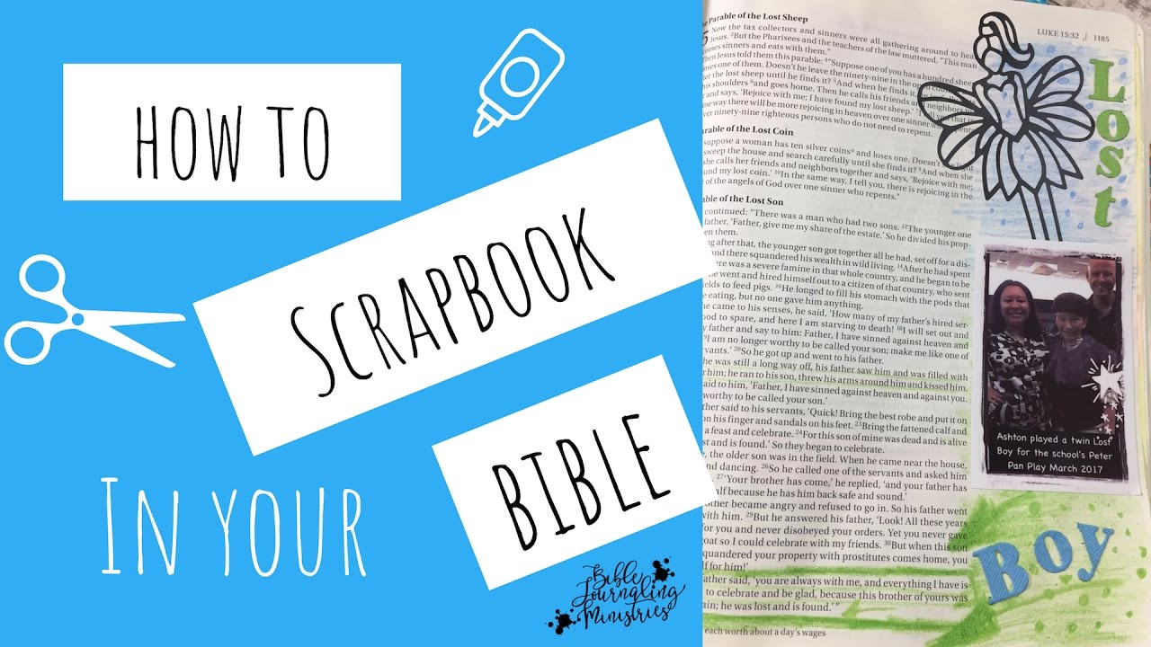 How to scrapbook journal - How To Scrapbook In Your Bible Journal