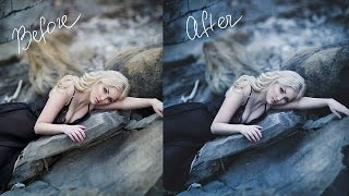 Dark and Moody, Cool Toned  Photoshop Tutorial