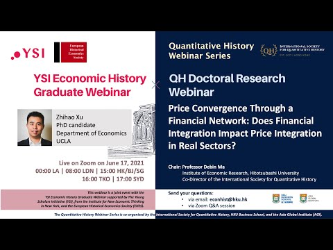 Price Convergence Through a Financial Network (Quantitative History Doctoral Research Webinar)